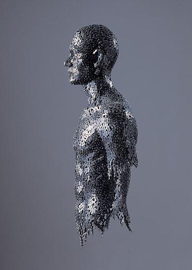 Yeong-Deok Seo. Скульптура из велосипедной цепи десятая