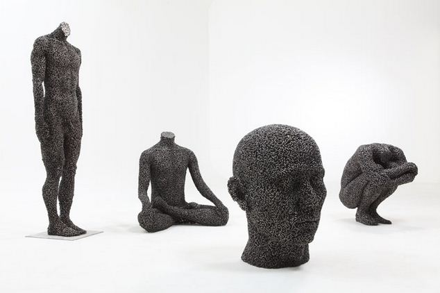 Yeong-Deok Seo. Скульптура из велосипедной цепи девятая
