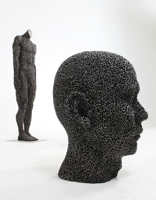 Yeong-Deok Seo. Скульптура из велосипедной цепи одинадцатая