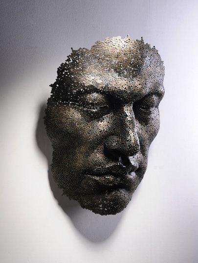 Yeong-Deok Seo. Скульптура из велосипедной цепи пятая