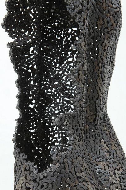 Yeong-Deok Seo. Скульптура из велосипедной цепи вторая