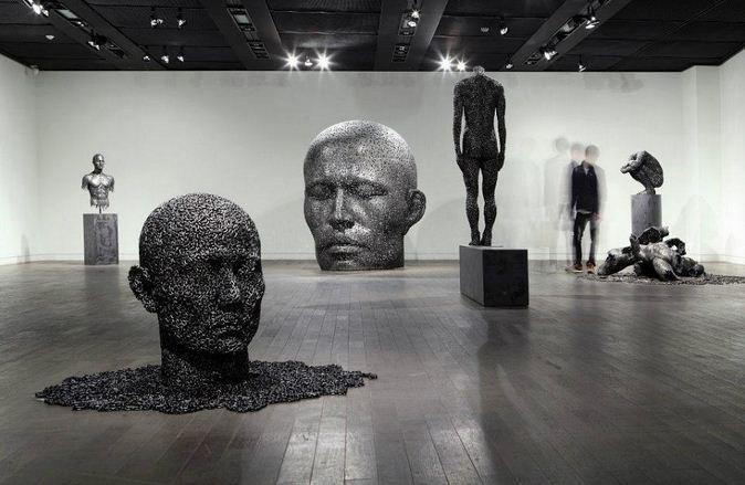 Yeong-Deok Seo. Скульптуры из велосипедной цепи. Выставка