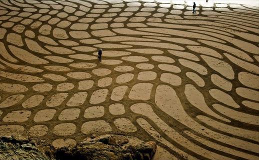 Andres Amador. Большие пляжные рисунки на песке. Четырнадцатый