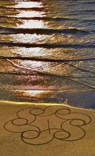 Andres Amador. Большие пляжные рисунки на песке. Двенадцатый