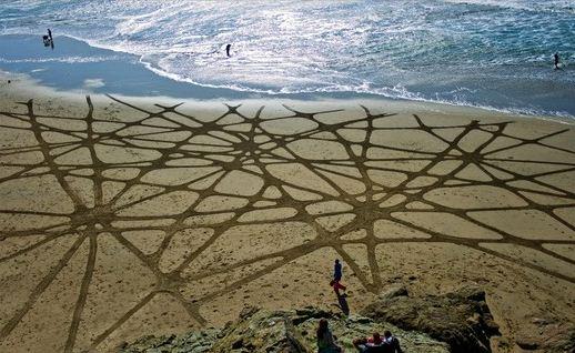 Andres Amador. Большие пляжные рисунки на песке. Одинадцатый
