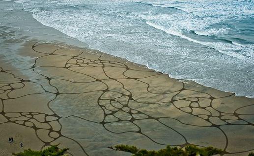 Andres Amador. Большие пляжные рисунки на песке. Тринадцатый