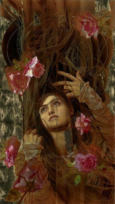 Manuel Nunez. Картина Seven Roses
