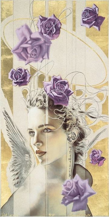 Manuel Nunez. Картина Violet Serene