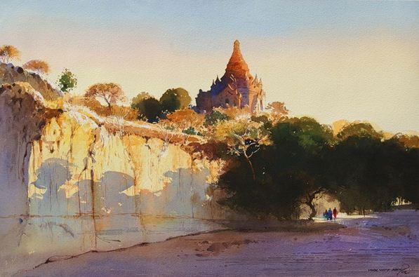 Myoe Win Aung. Современная восточная акварель. Десятая