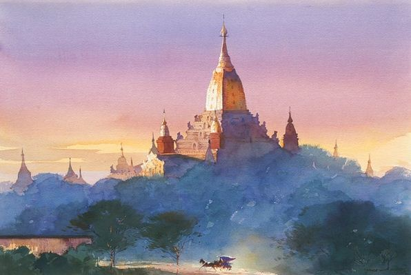 Myoe Win Aung. Современная восточная акварель. Тринадцатая