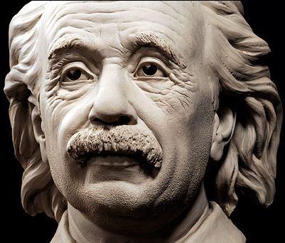 Philippe Faraut. Скульптура из глины. Эйнштейн