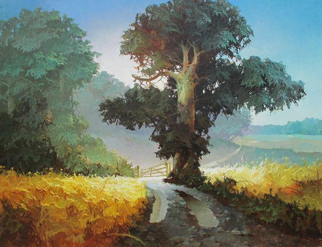 Виктор Быков. Сельский пейзаж. 60х80 холст масло