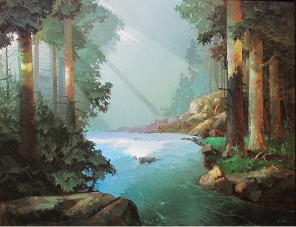 Виктор Быков. Волшебный лес. 70х90 холст масло