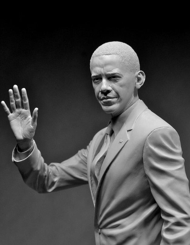 Adam Beane. Мини скульптура. Барак Обама. 2010