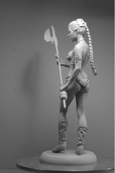 Adam Beane. Мини скульптура. Кэрри Фишер в роли принцессы Леи из Звездных Войн