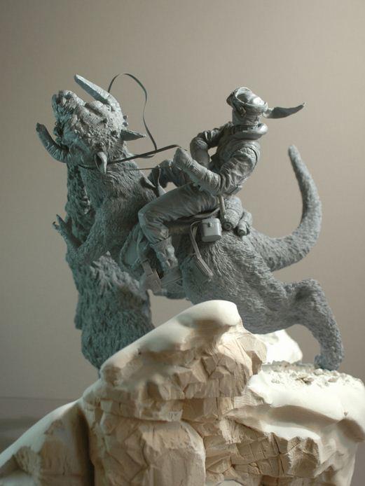 Adam Beane. Мини скульптура. Люк Скайуокер против Wampa из Звездных Войн