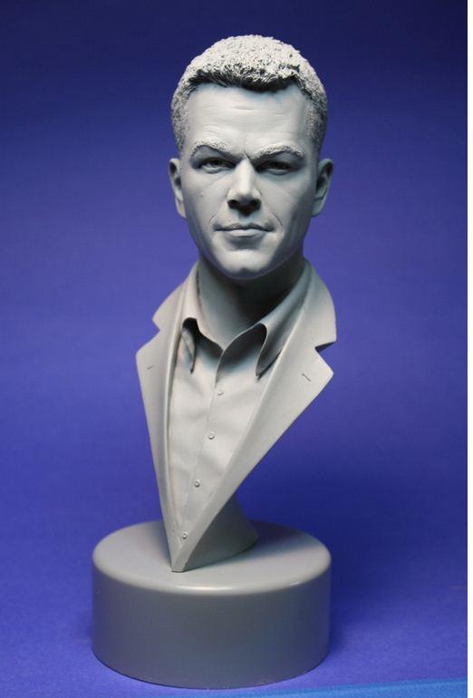 Adam Beane. Мини скульптура. Мэтт Дэймон. Бюст