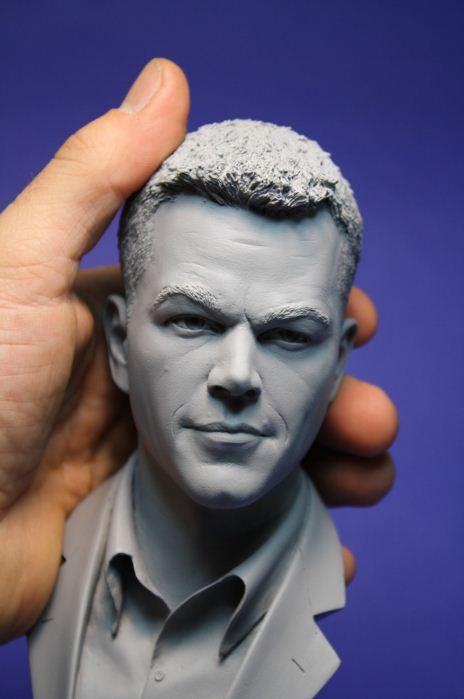 Adam Beane. Мини скульптура. Мэтт Дэймон. Крупный план