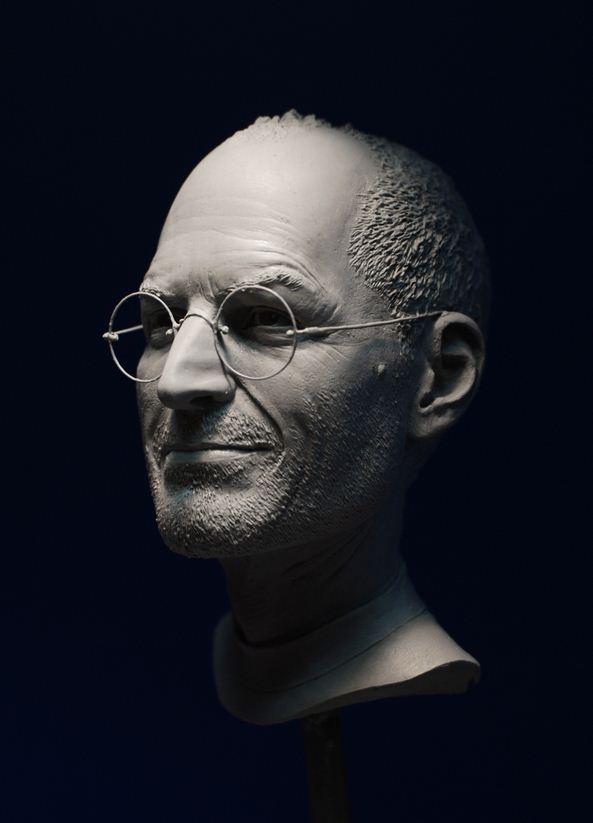 Adam Beane. Мини скульптура. Стив Джобс