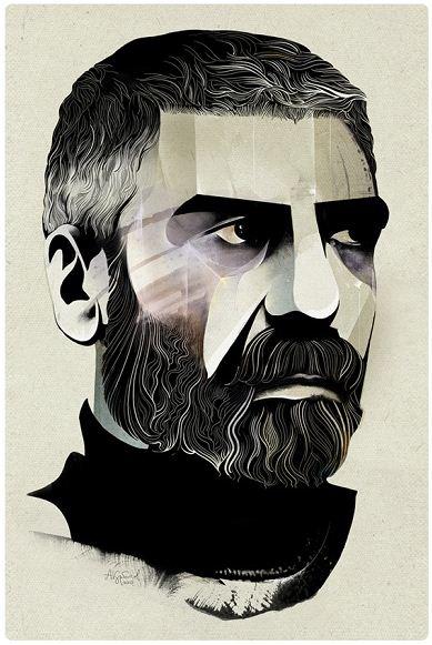 Алексей Курбатов. Цифровые иллюстрации. Сергей Довлатов