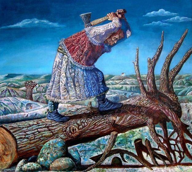 Борис Балахонцев. Интересные картины художников. Девятнадцатая