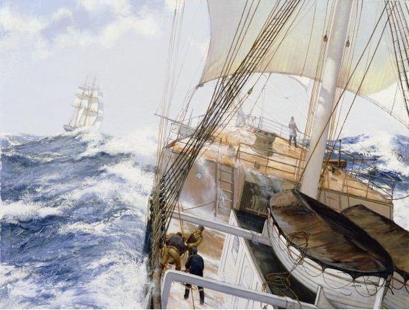 Brereton James. Картины маслом море. High Seas, 1990е