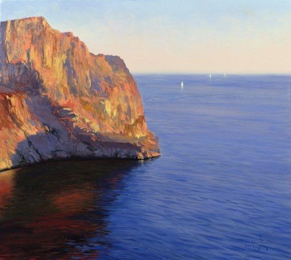 Brereton James. Картины маслом море. Majorca, 2007
