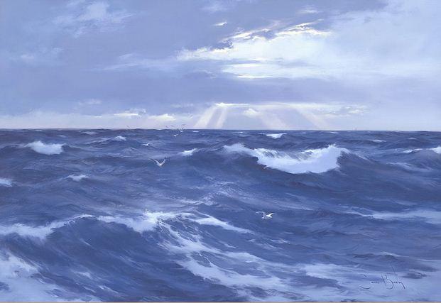 Brereton James. Картины маслом море. Море