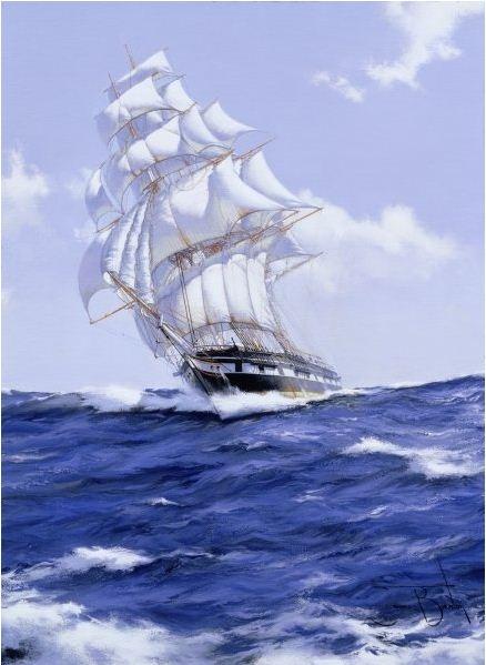 Brereton James. Картины маслом море. The John Bright, 2006