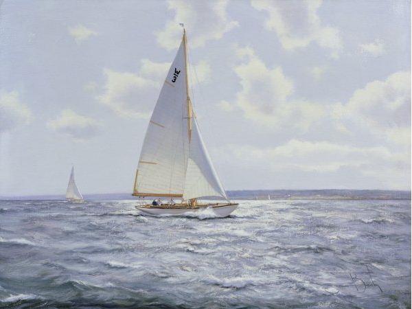 Brereton James. Картины маслом море. The Shimmering Sea, 2005