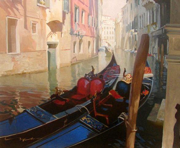 Чернигин Алексей. Картины написанные маслом. Конал в Венеции. 50х60 холст масло
