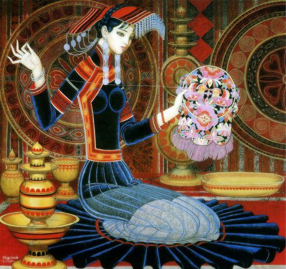Cunde Wang. Декоративные картины. Четвертая