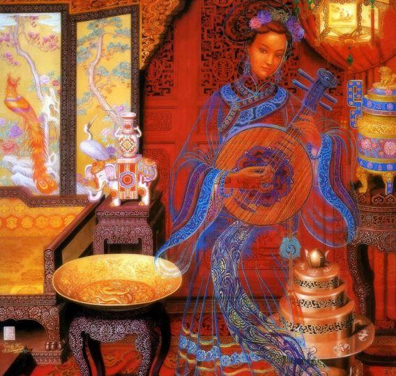 Cunde Wang. Декоративные картины. Первая