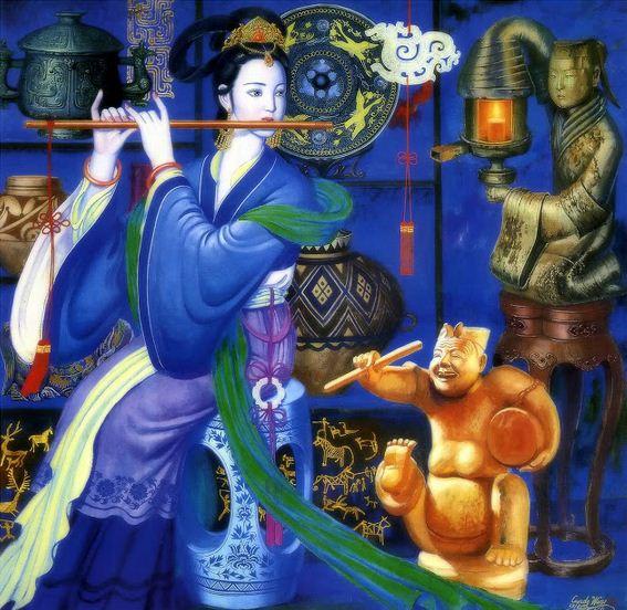 Cunde Wang. Декоративные картины. Пятая