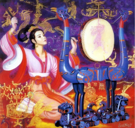 Cunde Wang. Декоративные картины. Шестая