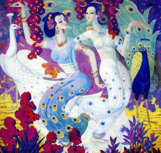 Cunde Wang. Декоративные картины. Восьмая