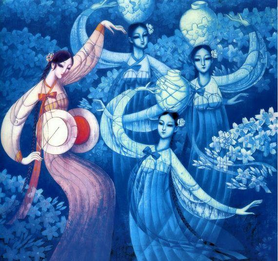 Cunde Wang. Декоративные картины. Вторая