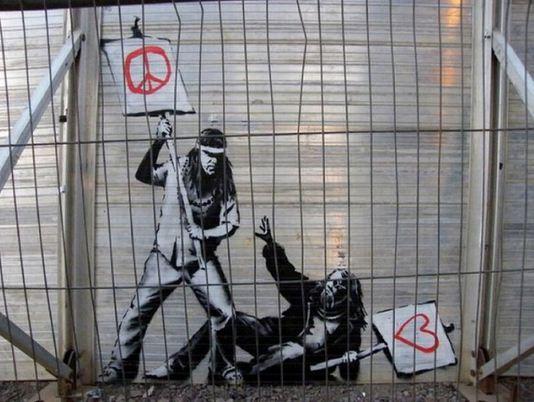 Художник граффити Бэнкси. Сюжет двадцать тдевятый
