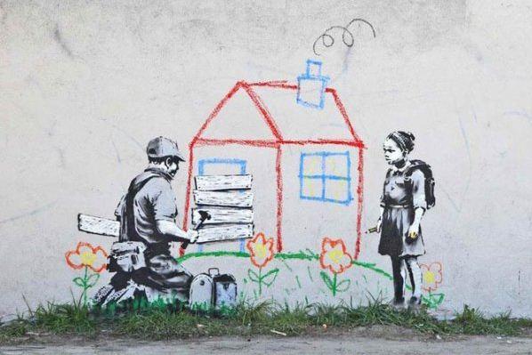 Художник граффити Бэнкси. Сюжет двенадцатый