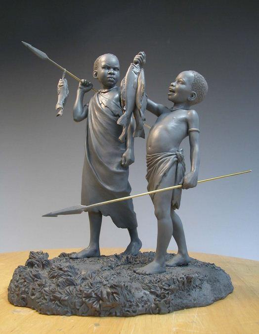 Mark Newman. Мелкая скульптура. Большой улов