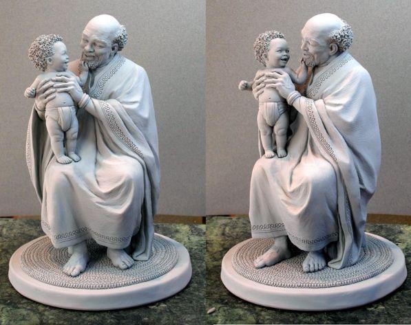 Mark Newman. Мелкая скульптура. Любимый дедушка
