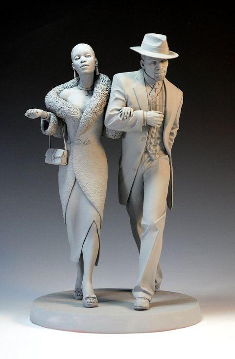 Mark Newman. Мелкая скульптура. Steppin 'Out