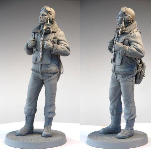 Mark Newman. Мелкая скульптура. Tuskegee Airman