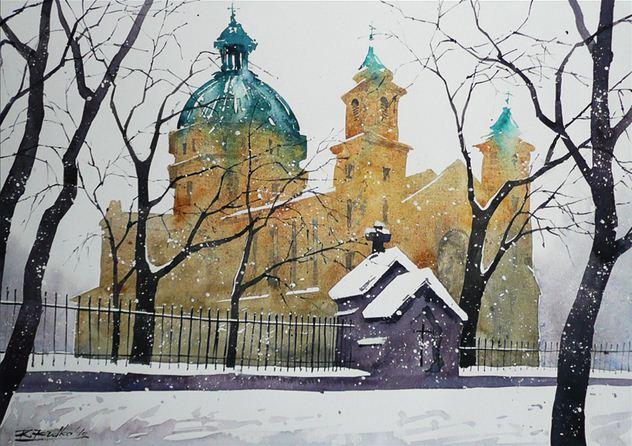 Rafal Rudko. Работы акварелью. Kościół Św.Barbary II. 30х42