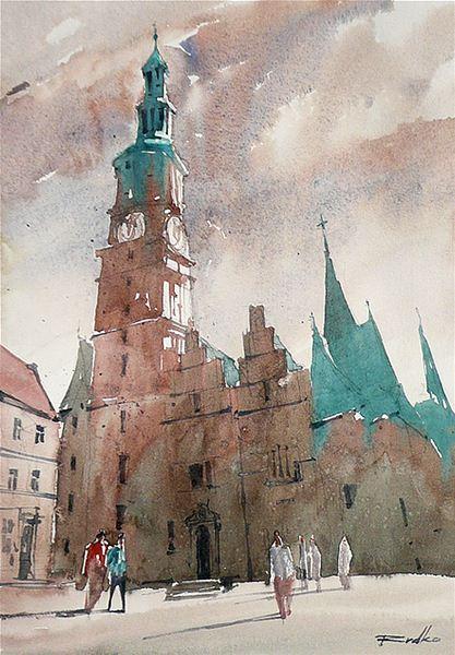 Rafal Rudko. Работы акварелью. Wrocław VII. 21х30