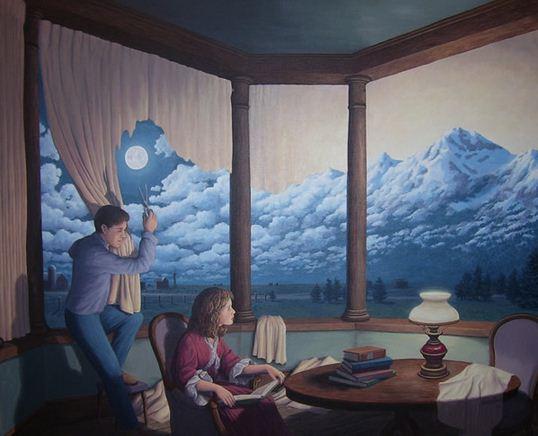 Rob Gonsalves. Иллюзии в картинах. A Change of Scenery II