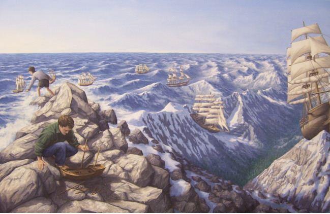 Rob Gonsalves. Иллюзии в картинах. Alpine Navigation