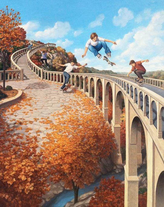 Rob Gonsalves. Иллюзии в картинах. Big Air
