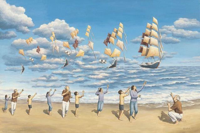 Rob Gonsalves. Иллюзии в картинах. On the High Seas
