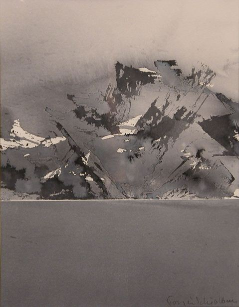 Schjolberg Torgeir. Акварельные этюды. Lofotfjell. 60х40